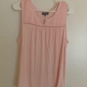 Market & Spruce Size L Pink Sleeveless Blouse